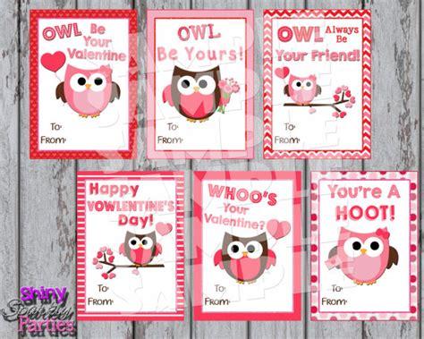 printable owl valentine cards owl valentines printable owl valentine cards classroom