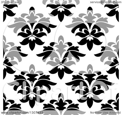 black and white seamless vintage wallpaper royalty free clipart of a black and white vintage seamless floral