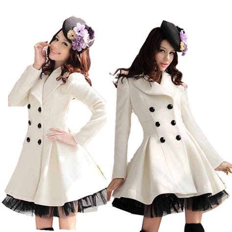 8 Cutest Winter Coats For by 2013 Winter New Large Lace Hem Breasted Wool