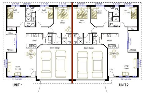 duplex floor plans with double garage 2 x 3 bedroom duplex floor plans 3 bathroom design