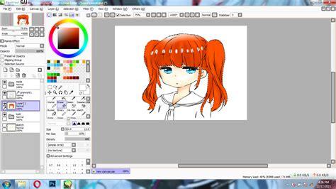 paint tool sai tutorial untuk pemula paint tool sai tutorial cara mewarnai rambut anime