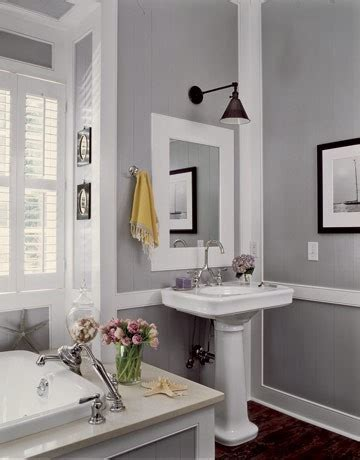 grey bathroom accent color more pinspiration for our bathroom our cozy cubbyhole