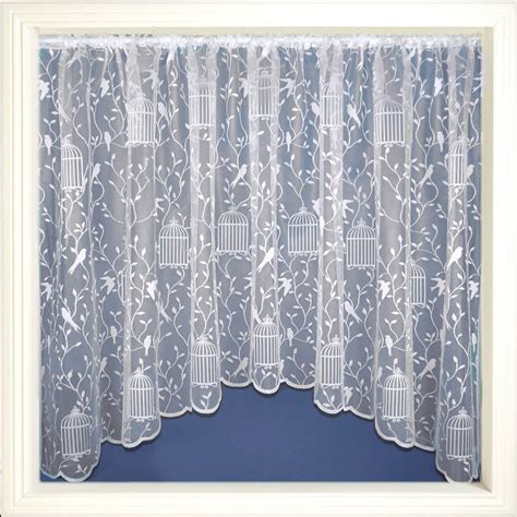 White Lace Curtains Jardiniere Net Curtains White Lace Curtain Panel Ready To Hang All Sizes Ebay