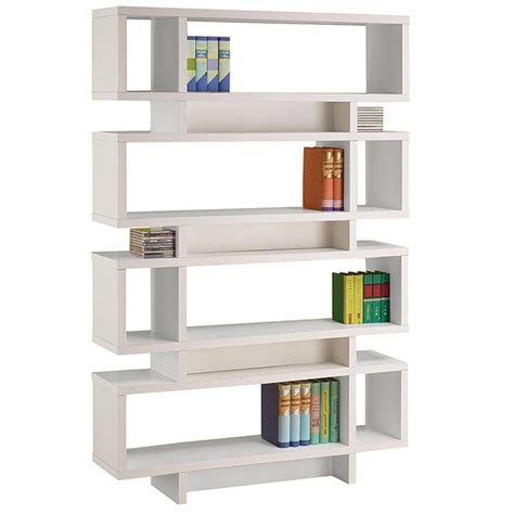 white modern bookcase modern shelving cubic bookcase eurway furniture