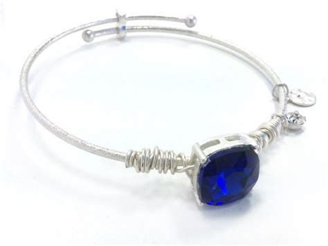 Gelang Fashion Wanita Impor Blue Square Bangle A 3005 3 best colors of sapphire stones for decorate jewellery