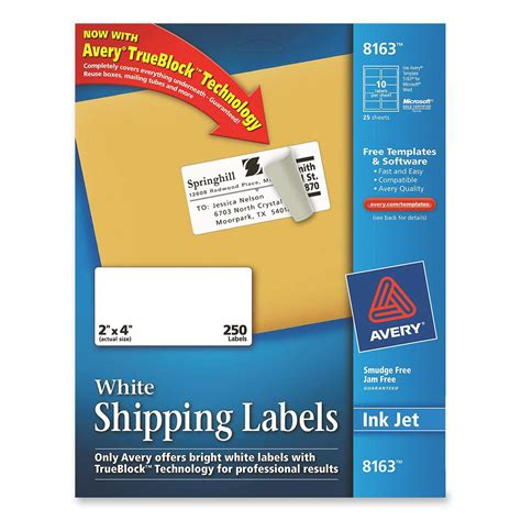 Avery Dennison Labels Templates printer