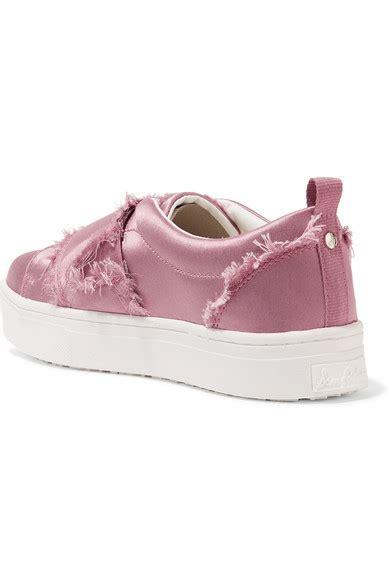 Levine Sneakers Sam Edelman Levine Frayed Satin Slip On Sneakers Modesens