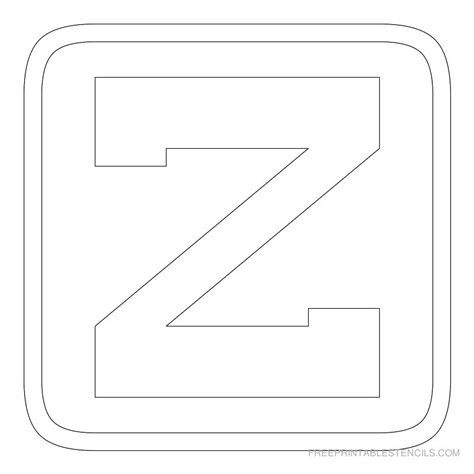 printable a z stencils printable block letter stencils free printable stencils