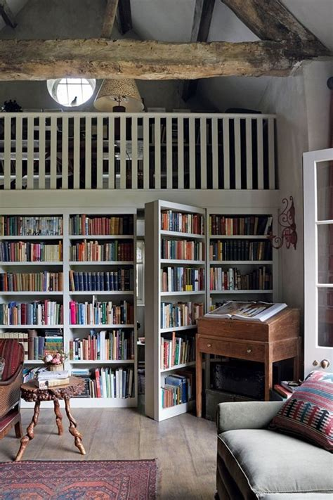 Reading In The Tub In The Bookcase by 12 Home Libraries With Doors