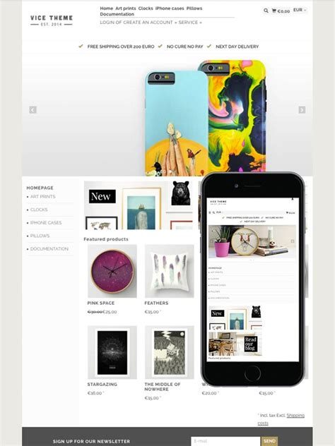Vice Lifestyle Themes For Ecommerce Lightspeed Ecommerce Templates