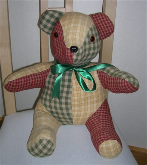 Patchwork Teddy Pattern - patchwork workshops