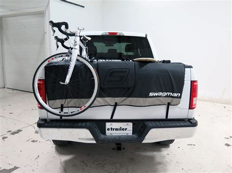 swagman truck bed bike rack swagman tailwhip tailgate pad and bike rack for full size trucks 61 quot wide swagman truck bed