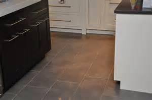 gray tile kitchen floor