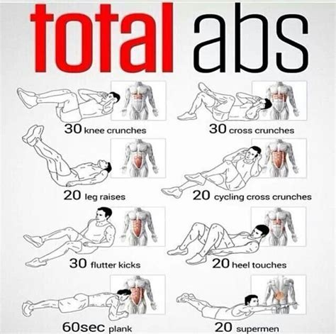 25 best ideas about ab workout at home on