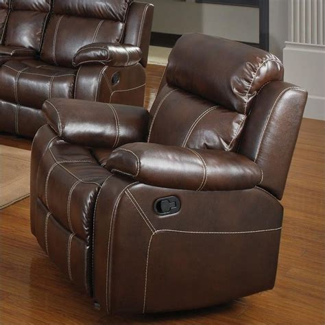 ebay leather recliners coaster myleene leather glider recliner chair upholstered