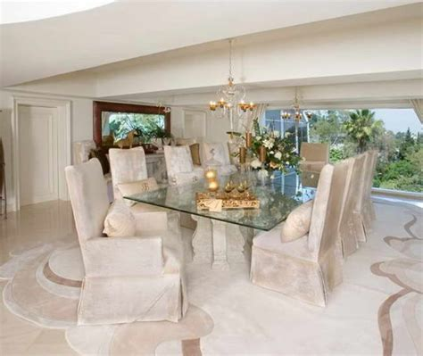 great glass dining room tables