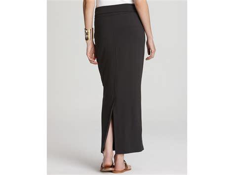 eileen fisher foldover maxi pencil skirt in black lyst