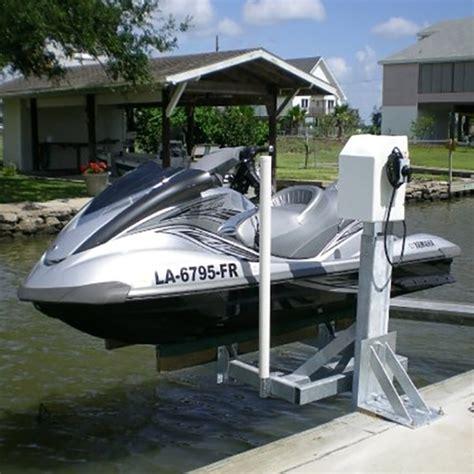 jet ski mount on pontoon boat mini mag 800 lb capacity dock mount jet ski lift