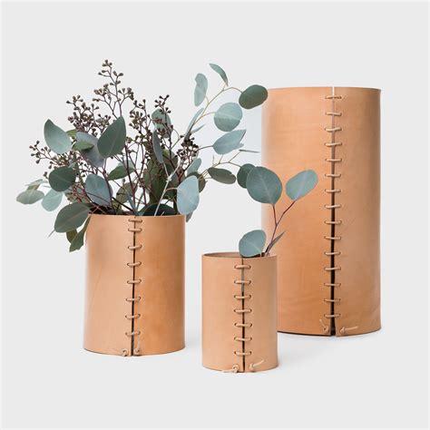 leather wrapped vase shoppe amber interiors