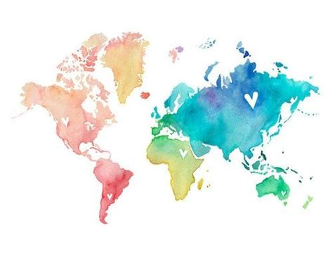 watercolor tattoo norge watercolor map world idea but without the hearts
