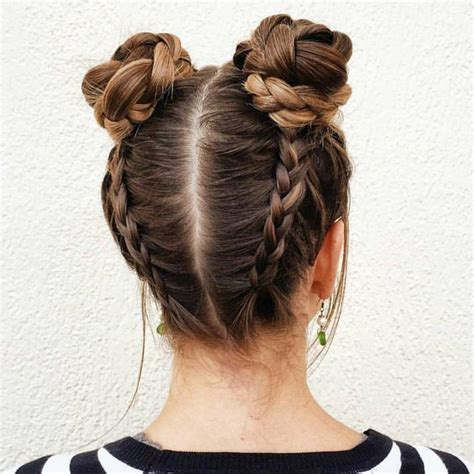 hairstyles for going out to eat braided space buns adorable x hair pinterest spaces