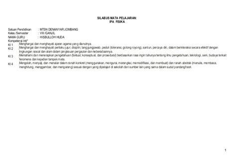 Explore Ipa Untuk Smp Mts Kelas 7 Kur 2013 Revisi silabus smp ipa kelas viii 100513 r