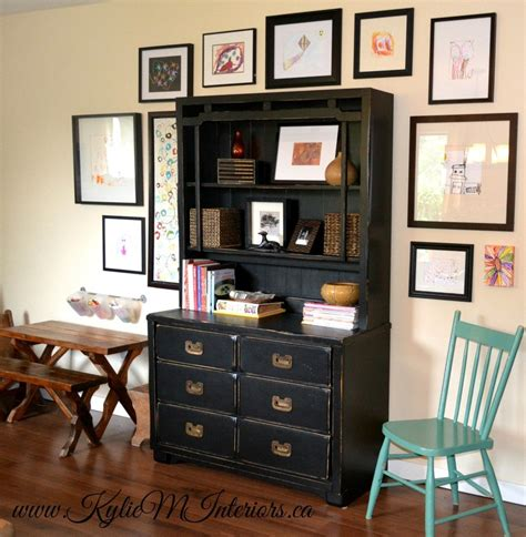 painted furniture ideas before and after painted furniture idea black and distressed dresser buffet