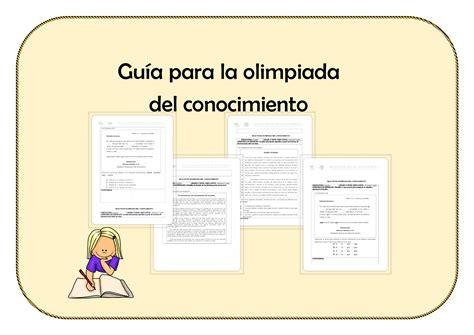 ejemplo de examen de olimpiada de conocimiento para primer examen de la olimpiada del conocimiento infantil by gu 237