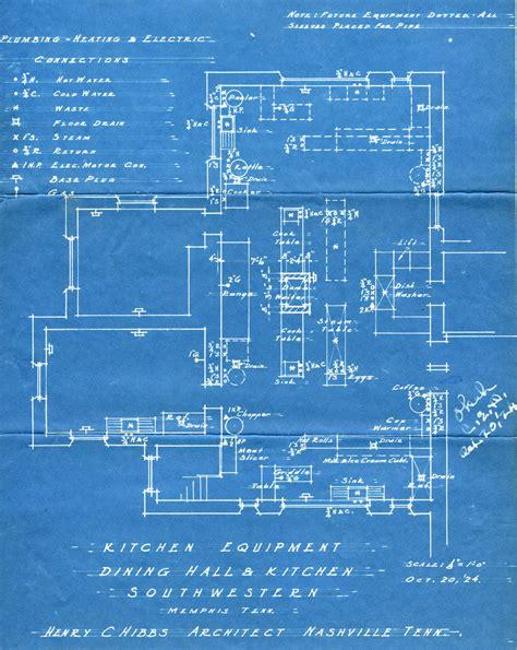 blueprint designs rhodes college digital archives dlynx dining hall