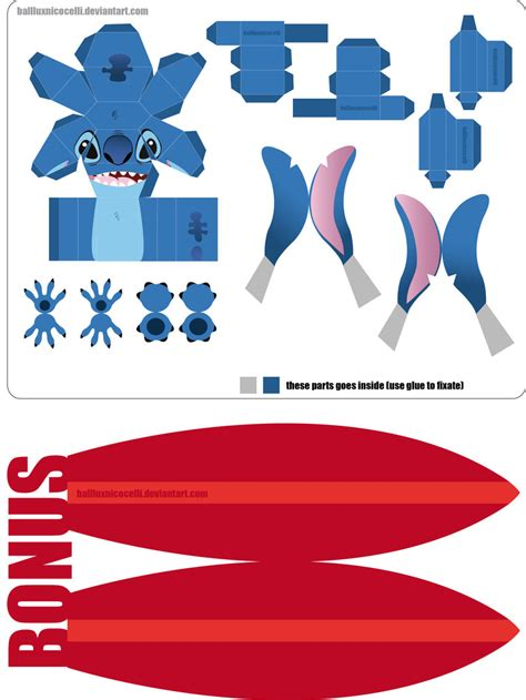 Disney Papercraft - stitch papercraft new version by balluxnicocelli on deviantart
