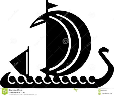 nordic boats logo viking boat vector illustrations for the logo stock