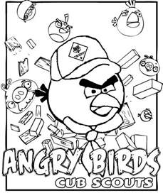 cub scout coloring pages akela s council cub scout leader angry birds