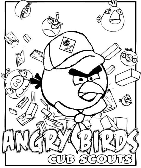 Cub Scout Coloring Page akela s council cub scout leader angry birds coloring page for cub scouts great for