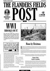 fort times newspaper the flanders fields post recreates newspaper produced by