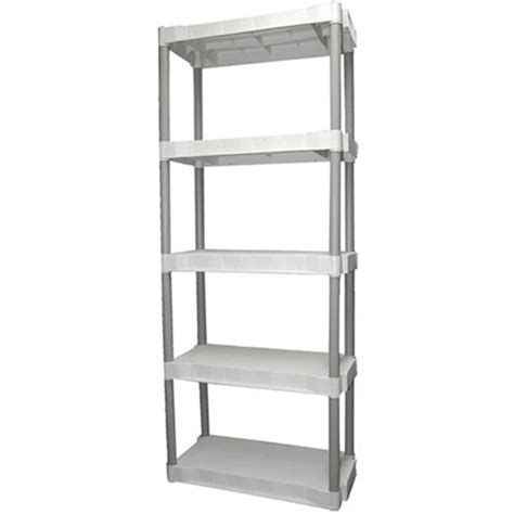Shelf Storage by Plano 5 Shelf Storage Unit Light Taupe Walmart