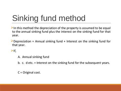Sinking Fund Method Of Depreciation With Exle by Depreciation Obsolescence