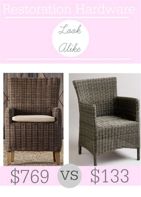restoration hardware armchair restoration hardware majorca all weather armchair look alike southern savers