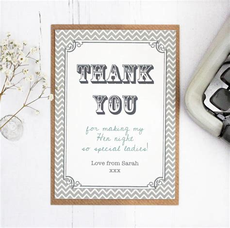 wedding for you hen and wedding thank you card by precious