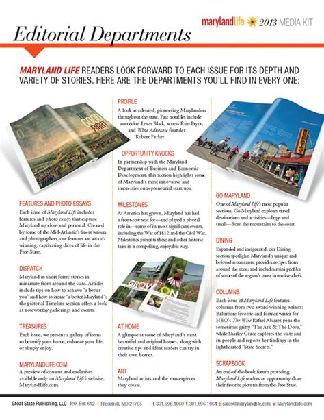 outdoor life magazine media kit info quot maryland life quot magazine media kit 2013 on behance
