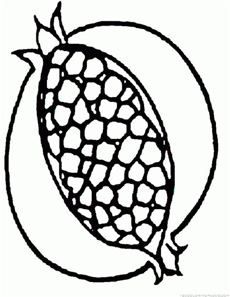 Pomegranate Coloring Pages Part 2 A Coloring Picture