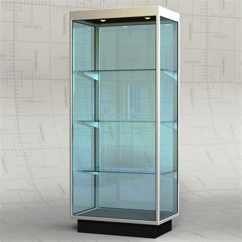 Glass Cabinet by Retail Glass Cabinets 3d Model Formfonts 3d Models