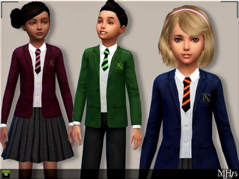 Chil School 4 sims addictions child school uniforms by margies sims sims 4 downloads