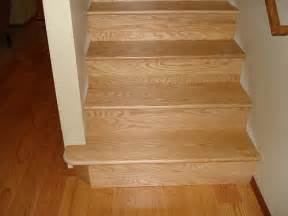 oak stairs replaced pergo flooring with real wood