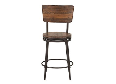 Isaac Swivel Counter Stool by Isaac Swivel Counter Stool Distressed Walnut Raymour