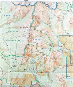 trail map of kebler pass paonia reservoir colorado