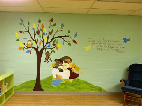 Church Nursery Decorating Ideas Church Nursery Mural Church Nursery