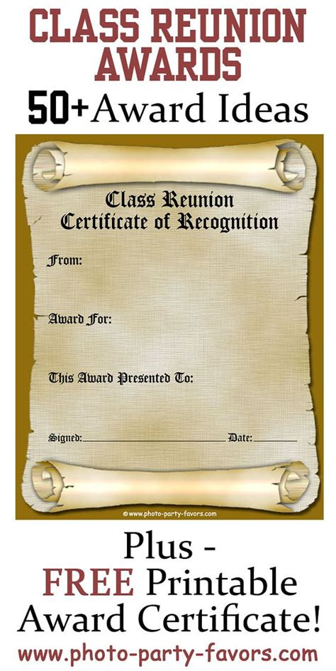 saving award certificate template free printable class reunion award certificate with more