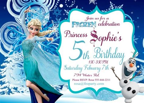 printable birthday party invitations frozen frozen birthday invitation printable frozen elsa