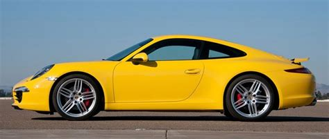 yellow porsche side view 2012 porsche 911 s w autoblog