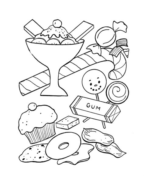 candy coloring pages coloring home